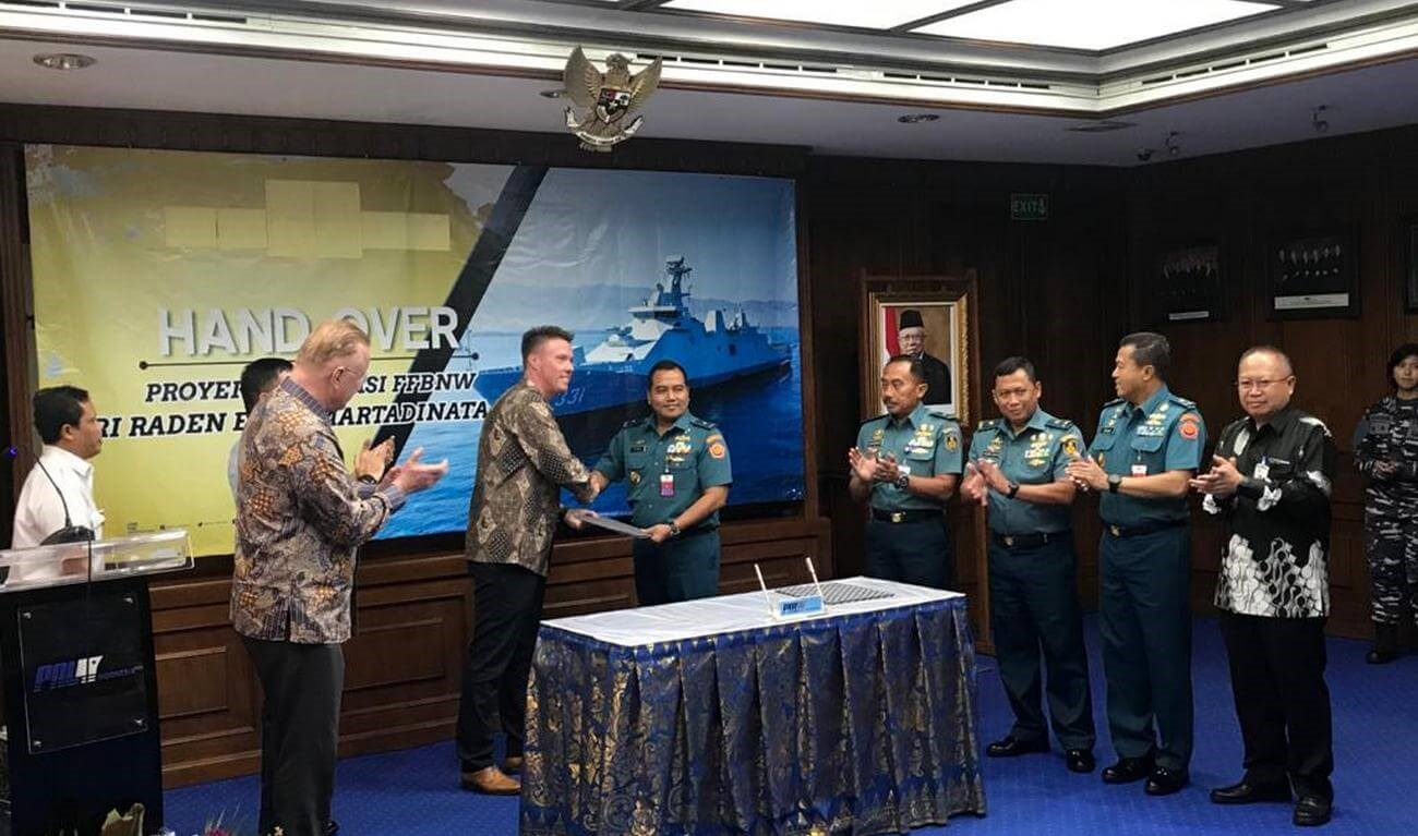 Damen, PT PAL Complete Installation of Combat Systems on Indonesian Navy's First SIGMA 10514 PKR Frigate